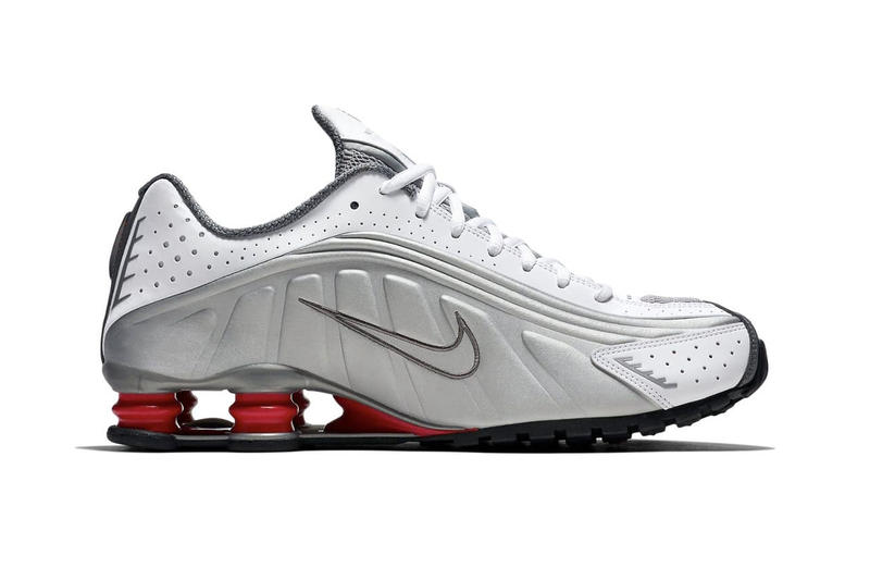 "Nike Shox R4 ""Metallic Silver/Comet Red"" 2018 retro sneaker release date info rerelease colorway price purchase trainers"