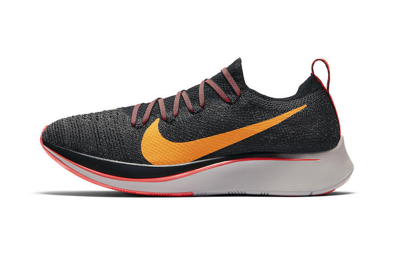 7d8e37c566d0 Nike Zoom Fly Flyknit Flash Crimson Orange Peel Moon Particle Black Info  Sneaker Release Date