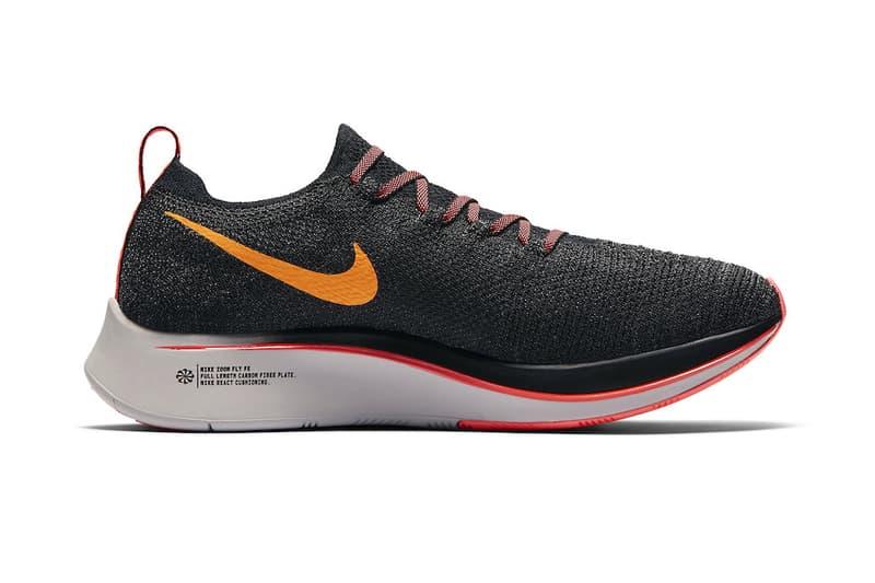 Nike Zoom Fly Flyknit Flash Crimson Orange Peel Moon Particle Black Info Sneaker Release Date