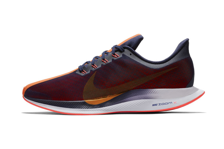 702fdfe4ca3 Nike Gives the Zoom Pegasus 35 Turbo a Crimson-Accented Racing Look.  Footwear