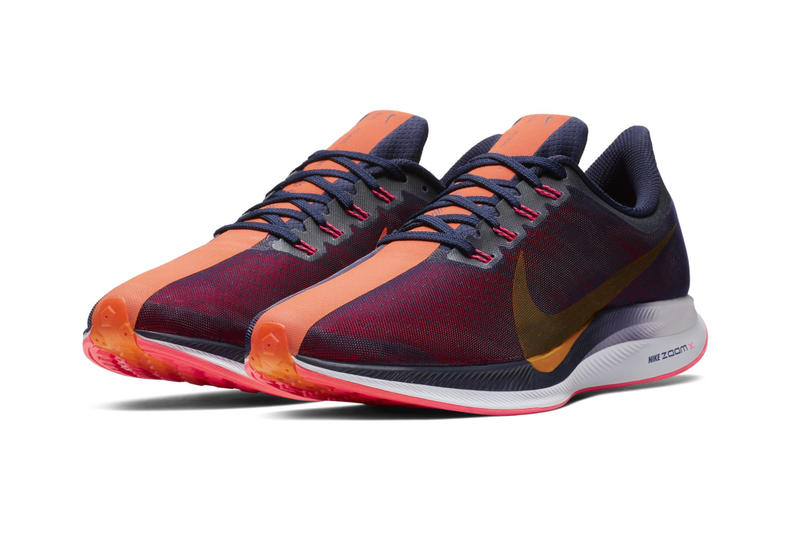 Nike Zoom Pegasus 35 Turbo Release Blackened Blue Orange Peel Flash Crimson Black Moon Particle White colorway sneaker date price info purchase