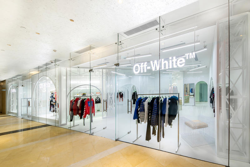 Off white macao second store open one central macau china virgil abloh store shop retail