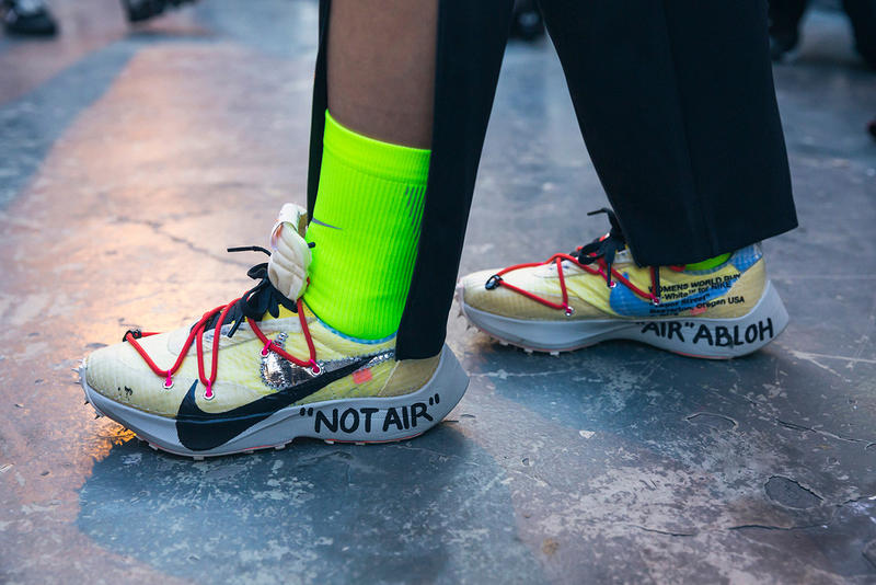 Off-White™ Spring/Summer 2019 Backstage Nike Collection Paris Fashion Week Exclusive Virgil Abloh Closer Look First Look Cecilia Yeung