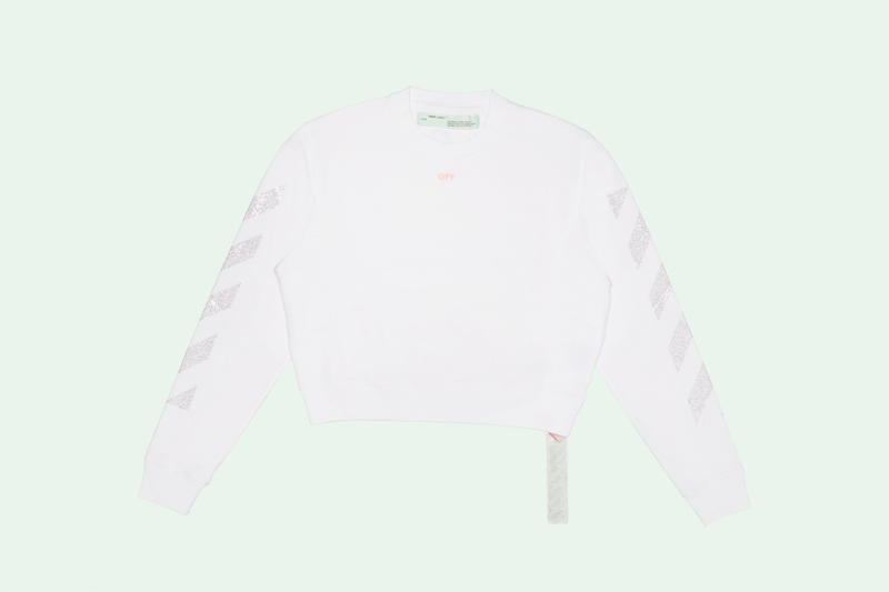 off white selfridges woman jacket crewneck t shirt industrial belt binder clip bag