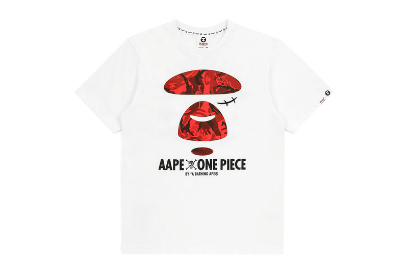 one piece bape aape collaboration collection fall winter 2018 september 28 release details buy sell luffy straw hat pirates manga anime