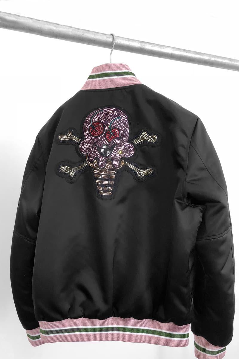 palm angels billionaire boys club ice cream varsity jacket