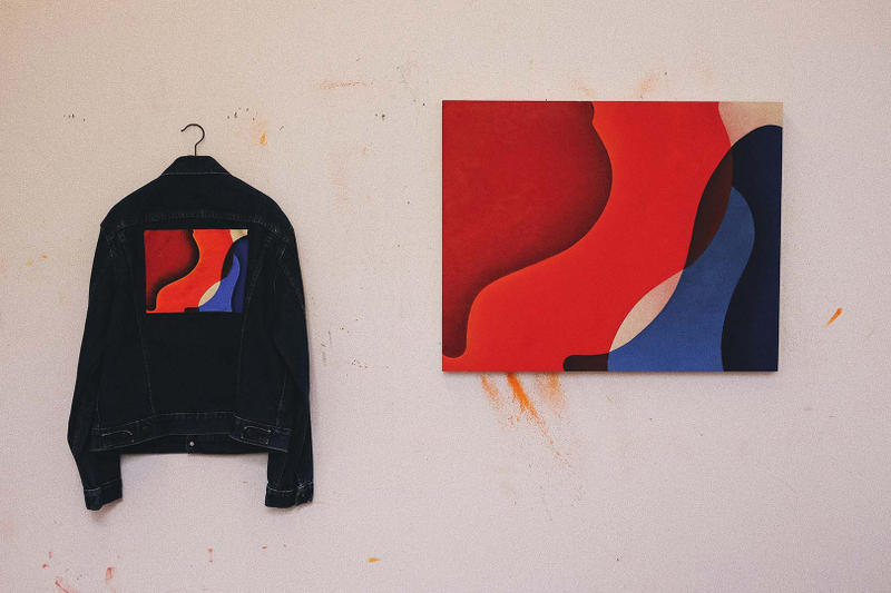 patric hanley above and under exhibition kinfolk 90 artworks paintings levis jackets