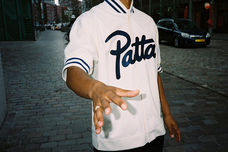 Patta Mitchell Ness Fall Winter 2018 Collection Collab Collaboration Cop Purchase Buy Lookbook autumn shit jacket satin white