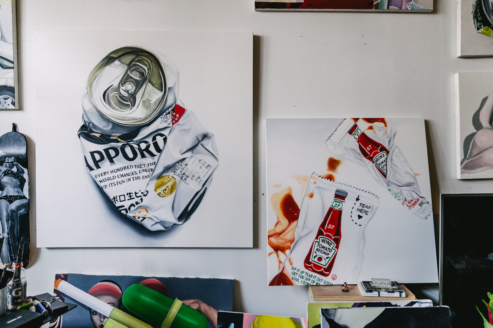 james evans pen and paper artworks paintings illustrations beer cans interviews sketches graphic design art
