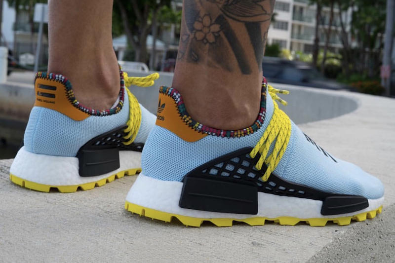 5cefa4872 Pharrell Williams adidas NMD Hu Clear Sky blue yellow black orange november  2018 Release info date