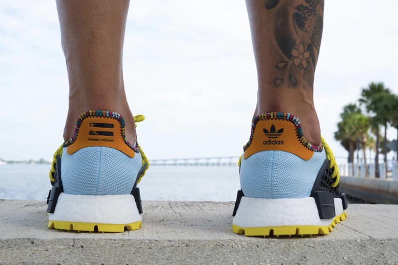8759697b2b4a1e Pharrell Williams adidas NMD Hu Clear Sky blue yellow black orange november  2018 Release info date