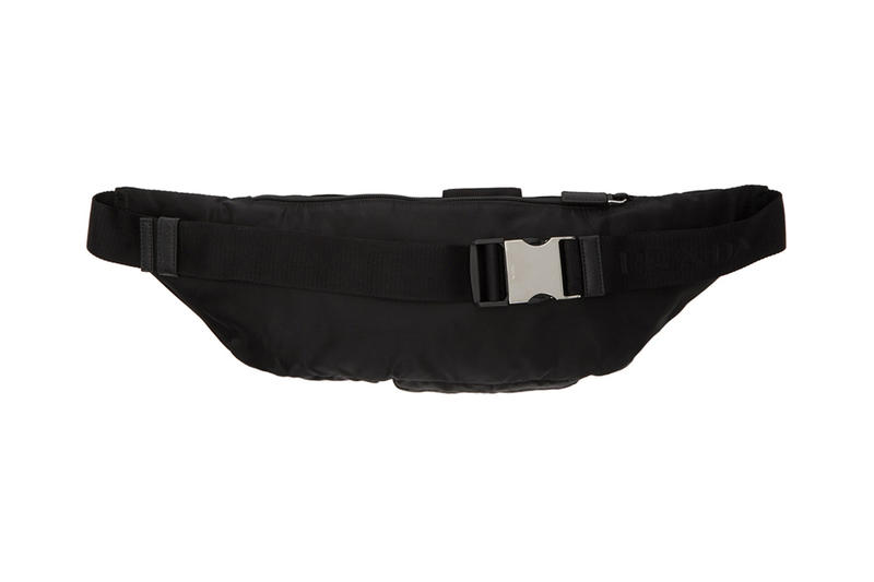 prada fall winter 2018 montagna pouch nylon ssense buy sell tactical technical functiona fanny waist bag pack strap pocket