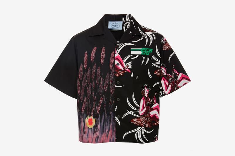 Prada Fall Winter 2018 Hawaiian Cotton Shirt release info hand painted