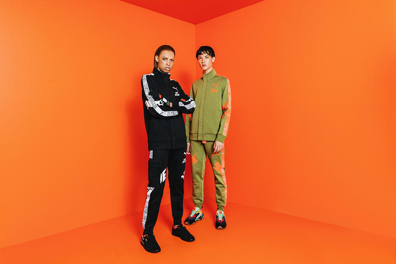 6c4945a1812 PUMA Atelier New Regime Fall Winter 2018 collection lookbook sneakers  jackets tracksuits crewneck pullovers collaborations