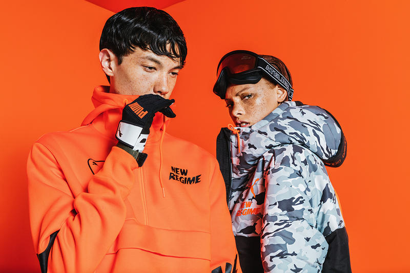 7e8040e4a5f732 PUMA Atelier New Regime Fall Winter 2018 collection lookbook sneakers  jackets tracksuits crewneck pullovers collaborations