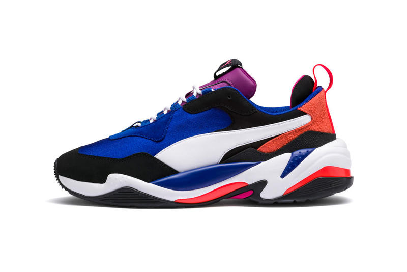 puma thunder 4 life blue purple red orange black white 2018 footwear