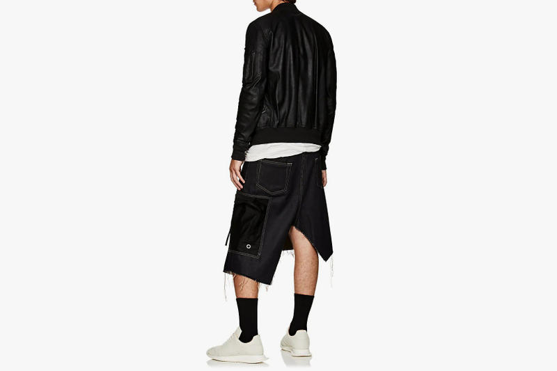 rick owens Asymmetric cargo skirt black 2018 september fashion