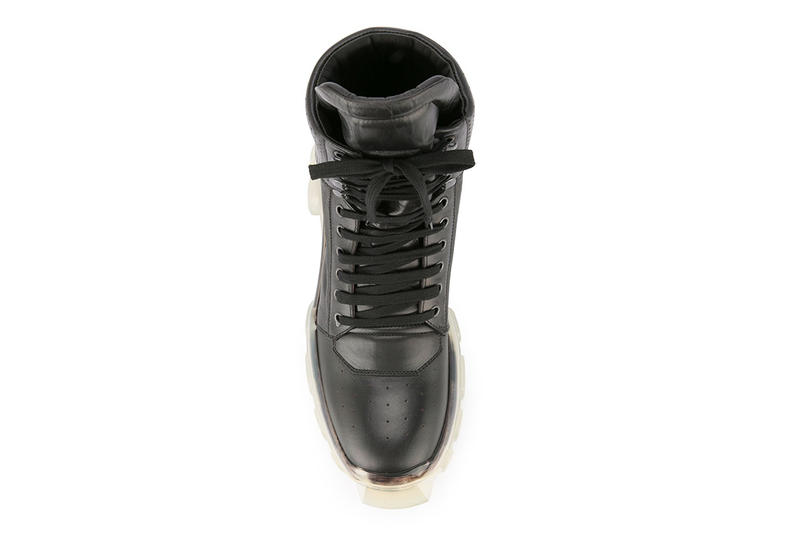 Rick Owens Tractor Dunk Boots Black White leather release info fall winter 2018