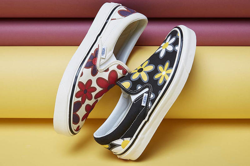 9a6aee0c50df Vans Slip On Floral Collaboration Release Date drop buy purchase black  white yellow red