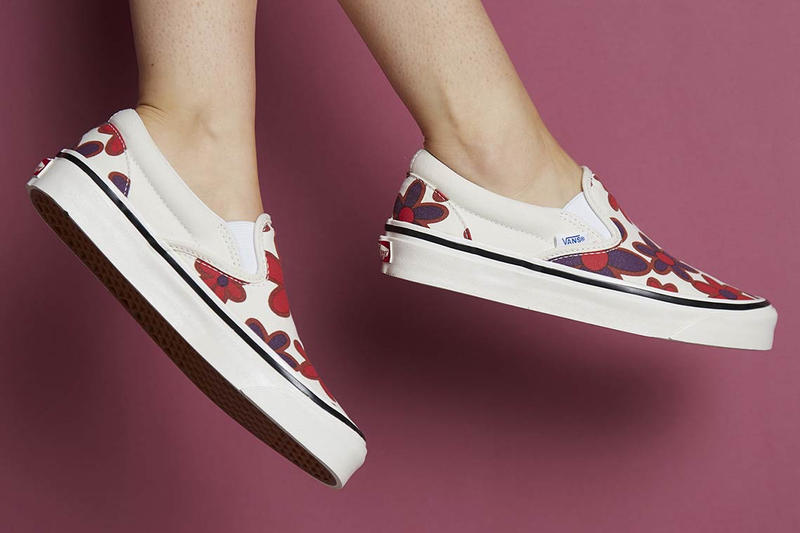 size? Vans Slip On Floral Collaboration Release Date drop buy purchase black white yellow red purple burgundy