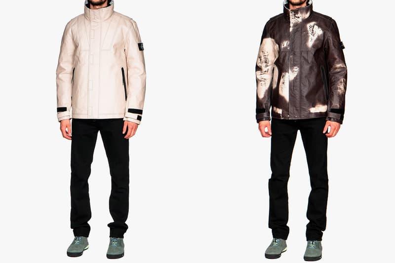Stone Island Dyneema Bonded Leather Ice Jacket Beige ECCO The Dyneema Project Fall Winter 2018