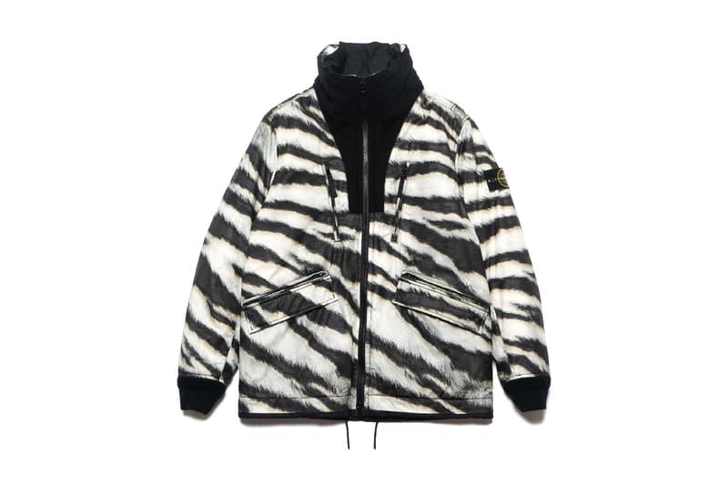 Stone Island Fall Winter 2018 White Tiger Camo Capsule black white short long sleeve t shirt overshirt sweatshirt hooded parka