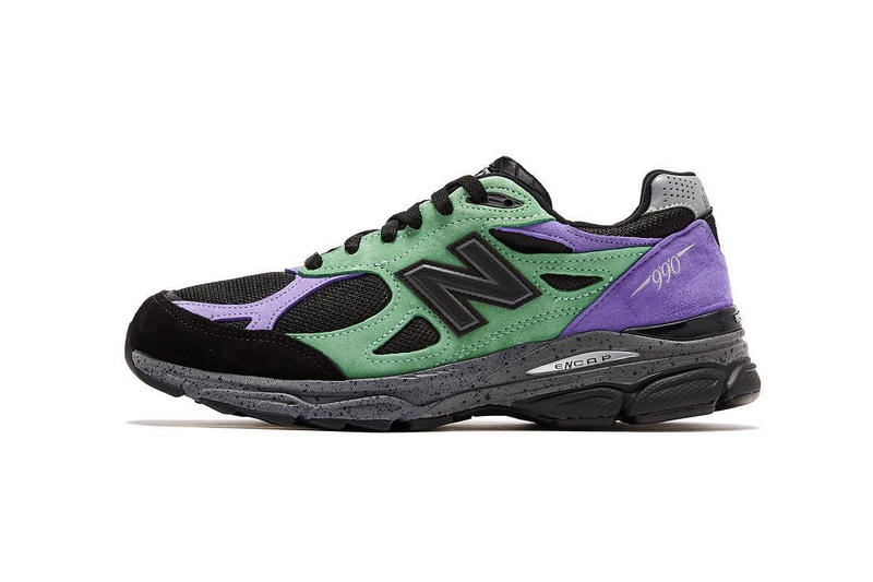 buy online d94d5 ed0b8 Stray Rats New Balance 990v3 collaborations release info black purple green  sneakers