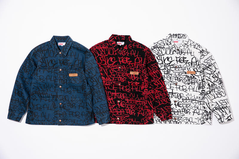 Supreme CDG Shirt Fall Winter 2018 Collection Release Nike Air Force COMME des GARÇONS jackets shirts sneakers waffle knit