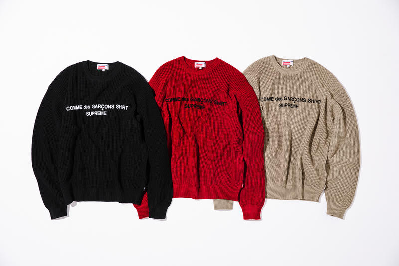 Supreme X Cdg Shirt Fw18 Collection Release Hypebeast