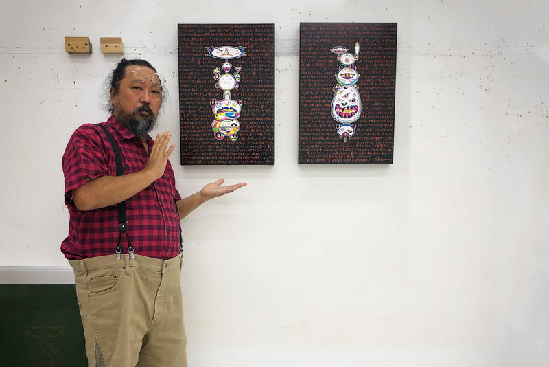 takashi murakami Change the Rule gagosian hong kong september 20 2018 new painting text illustration studio photo print tan tan bo puking gerotan inspiration