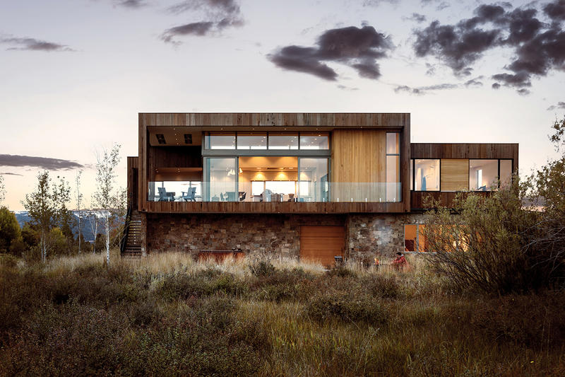 Teton Residence RO ROCKETT DESIGN Architecture Architects Homes Houses Idaho Jackson Hole Wyoming Retreat Isolated wetlands plain