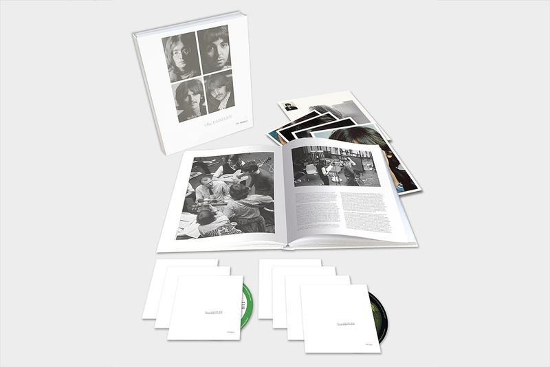 The Beatles White Album 50th 50 Anniversary Reissue Details Music Stream Listen Watch 2018 November 9 george martin son giles paul mccartney john lennon ringo starr sam okell book cd blu ray super deluxe