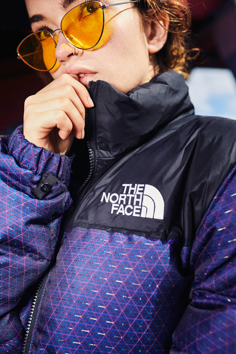 The North Face CMYK Capsule Lookbooks Release Nuptse Jacket Vest Back to Berkely Boots Backpack Hat Purple New Era 59FIFTY fitted