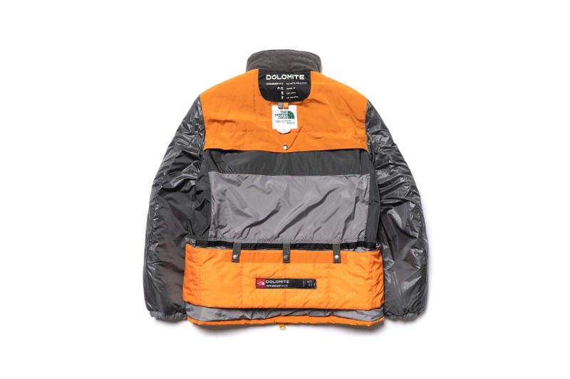 The North Face Junya Watanabe MAN Dolomite Sleeping Bag Jacket Orange Grey release info