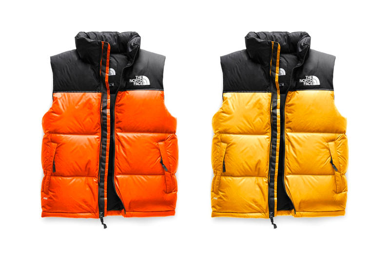 f26cd40e3b The North Face Retro 1996 Nuptse Vest release info orange yellow red blue  grey black