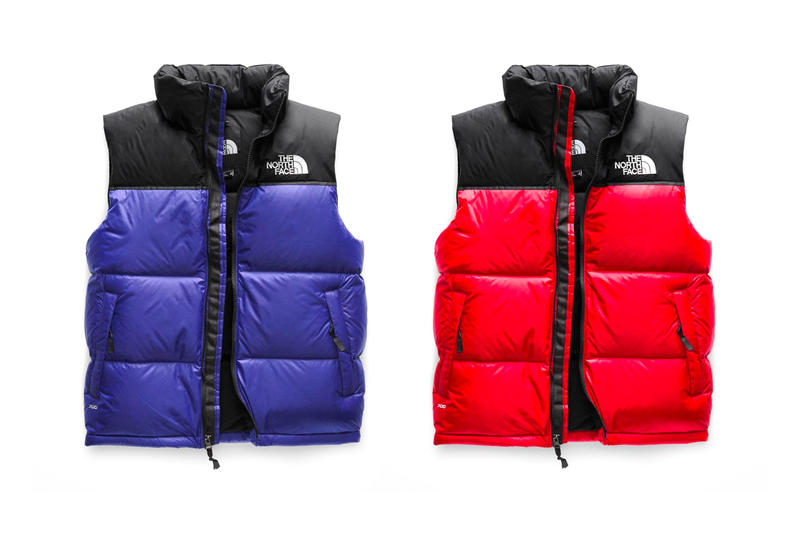 The North Face Retro 1996 Nuptse Vest release info orange yellow red blue grey black