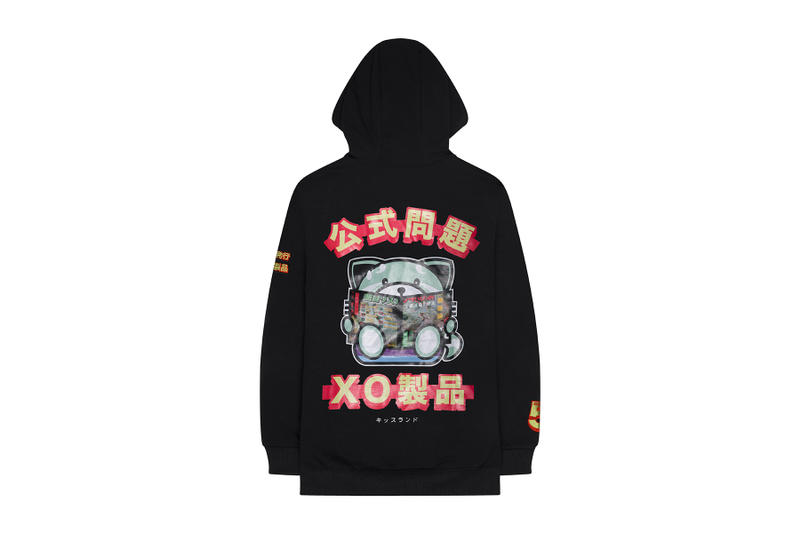 The Weeknd kiss land 5 anniversary drop release date web store release date info september 10 2018 closer look limited edition red panda fox character bearbrick figure vinyl medicom toy hoodie tee shirt face mask hat