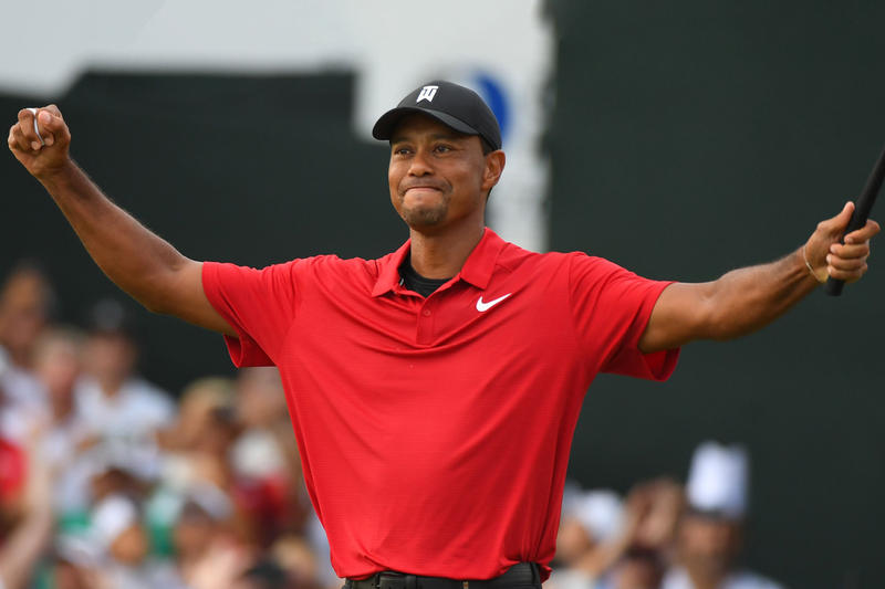 1263d56dbdf80 nike tiger woods ad campaign pga tour championship 80 career win done it again  victory golf
