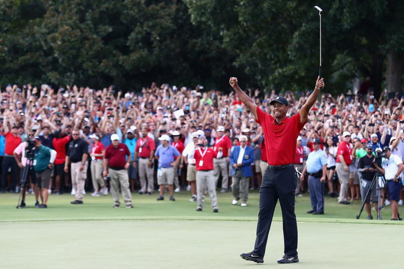 8fe52695777d7 tiger woods win golf pga tour tournament championship East Lake Golf Course  georgia red nike shit