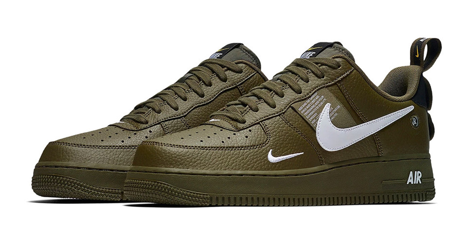 """huge discount 15b70 df796 Nike Air Force 1 Low Utility """"Olive Canvas""""   HYPEBEAST"""