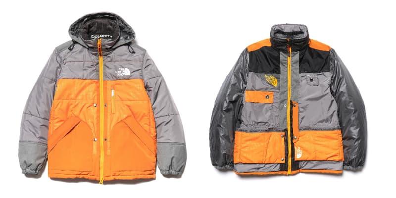 The North Face Junya Watanabe MAN Dolomite Sleeping Bag Jacket Orange Grey release info