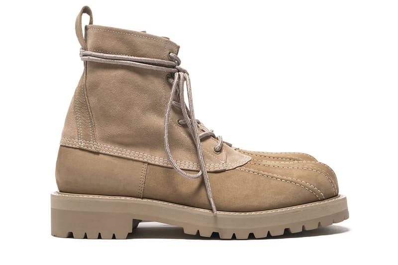 UNDERCOVER Cowhide Suede Duck Boots beige release info fall winter 2018 jun takahashi