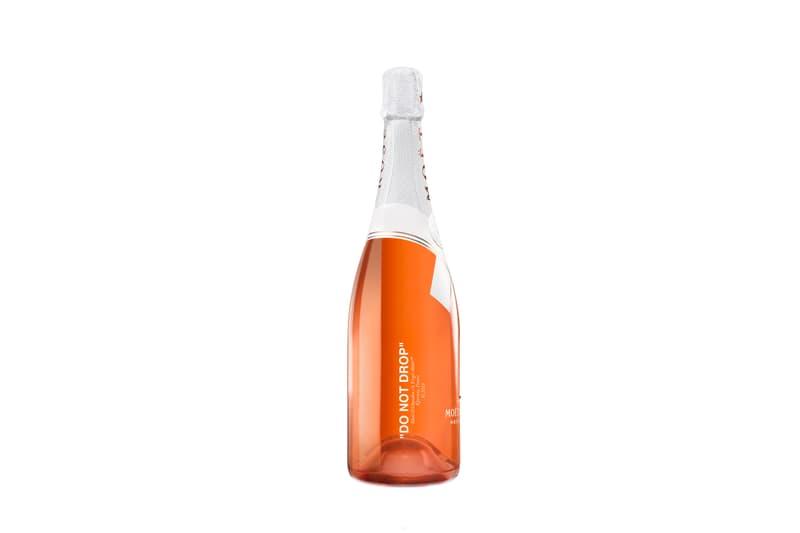 Virgil Abloh Louis Vuitton Moet Chandon Collaboration Bottle Teaser champagne LVMH Off-White Design