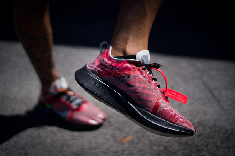 d1beb179181cb1 off white nike zoom fly sp promo order sample sneaker shoe colorway black  insole collaboration exclusive