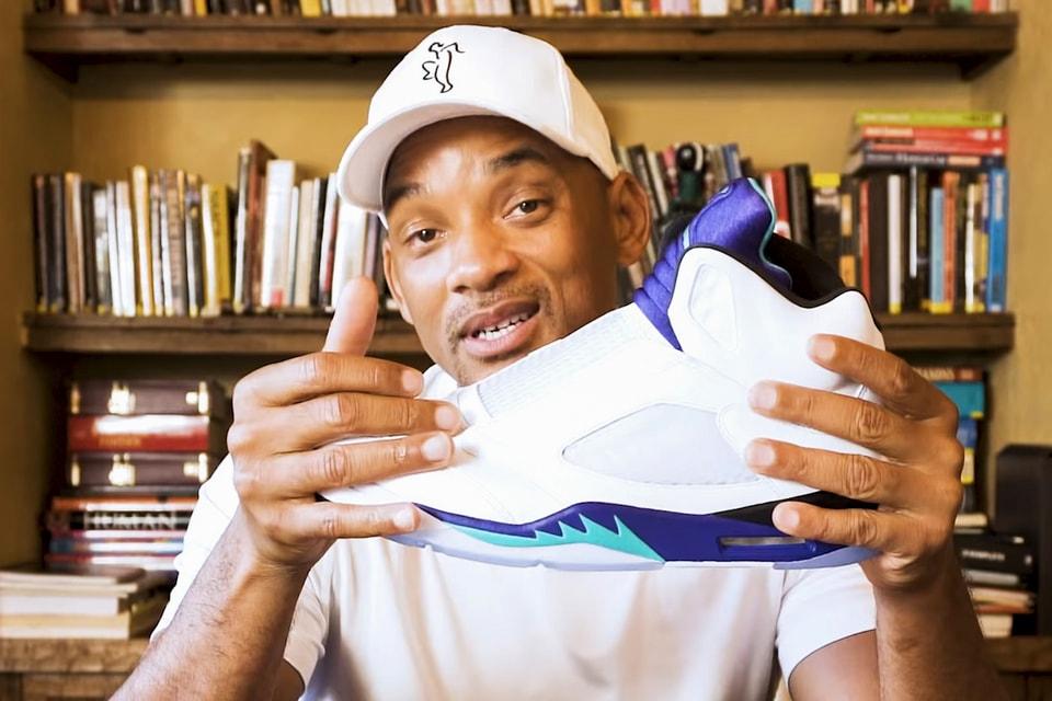 b0b5e7a7d8e Will Smith Unboxes His Laceless Air Jordan 5 | HYPEBEAST