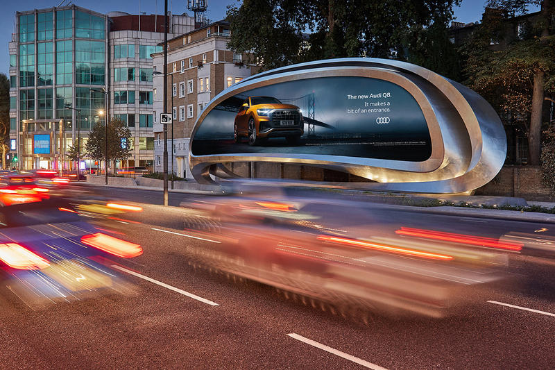 Zaha Hadid Architects JCDecaux Billboard architecture advertising The Kensington outdoors LCD Screen design