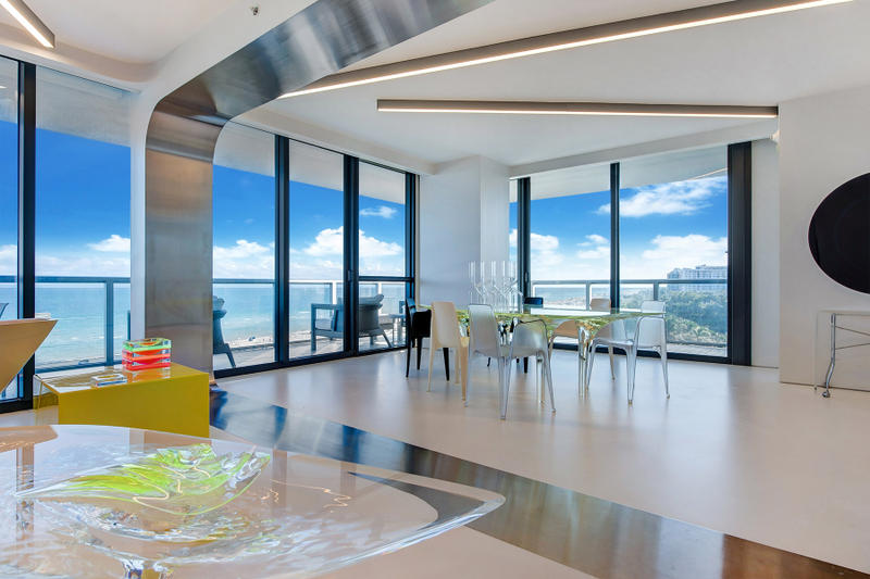 Zaha Hadid's Miami Condo Sold property real estate  W hotel Collins Avenue Sotheby's One Thousand Museum