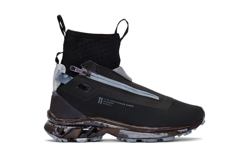 11 By Boris Bidjan Saberi x Salomon Bamba 2 Info high-top sneakers boots trainers footwear sports hiking trail 11 by BBS fall winter 2018 ssense