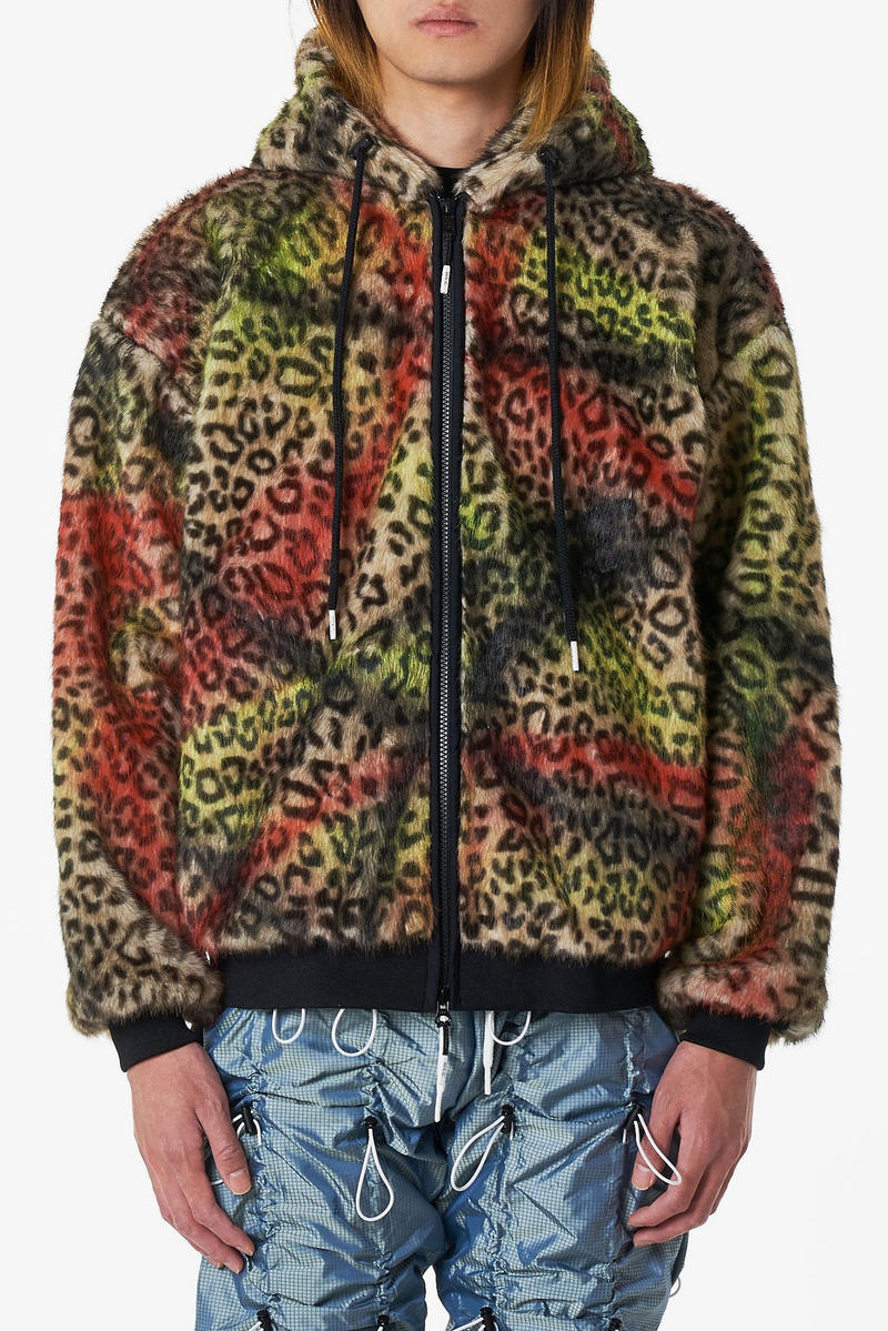 99%IS Faux Fur Handmade Graffiti Jackets