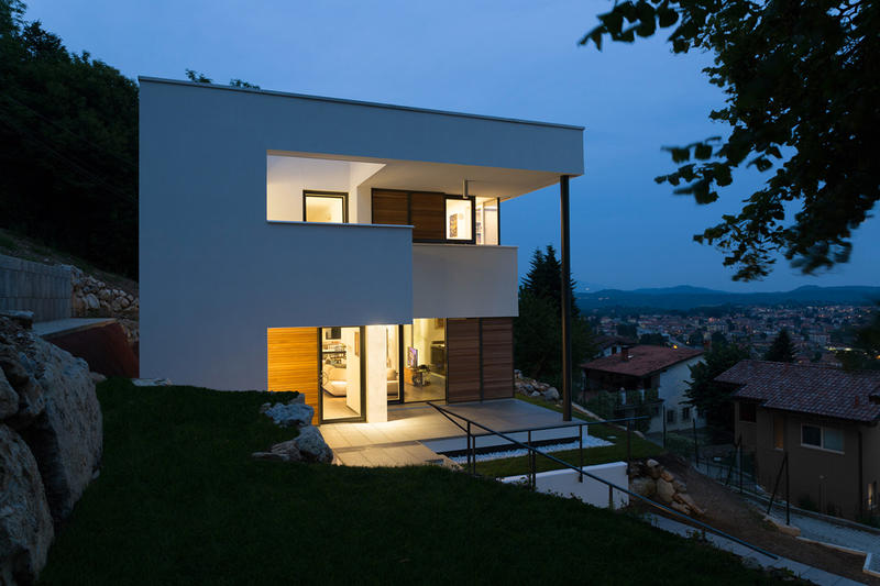 House NM Studio Ecoarch varese italy home hillside architecture design